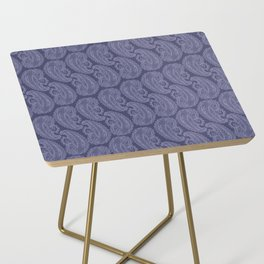 Purple Paisley Side Table
