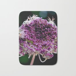 field carmine flower Bath Mat
