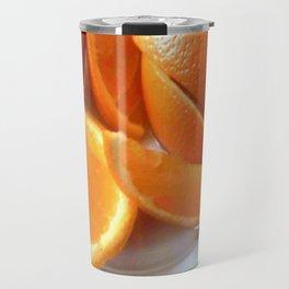Orange Quarters Travel Mug