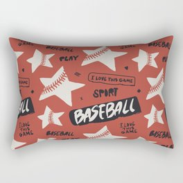 Baseball love. Rectangular Pillow