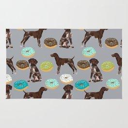 German Shorthair Pointer donuts dog art custom pet portraits of dog breeds by pet friendly Rug