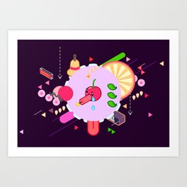 Tasty Visuals - Cherry Poppin' (No Grid) Art Print
