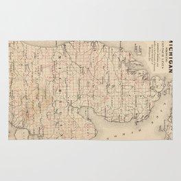 Vintage Map of Michigan (1873) 2 Rug