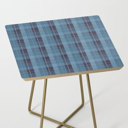 AFE Blue Plaid Pattern II Side Table