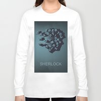 sherlock holmes Long Sleeve T-shirts featuring Sherlock Holmes by HomePosters