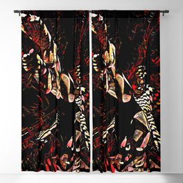 8647-KMA_6066 Feet First Abstract Feminine Creative Energy Figure Blackout Curtain