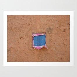 window in the mud Art Print