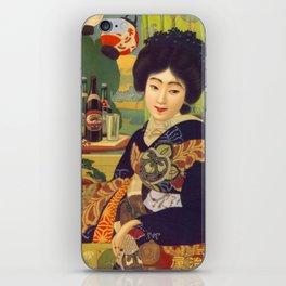 Vintage Japanese Beer Colorful Ad iPhone Skin
