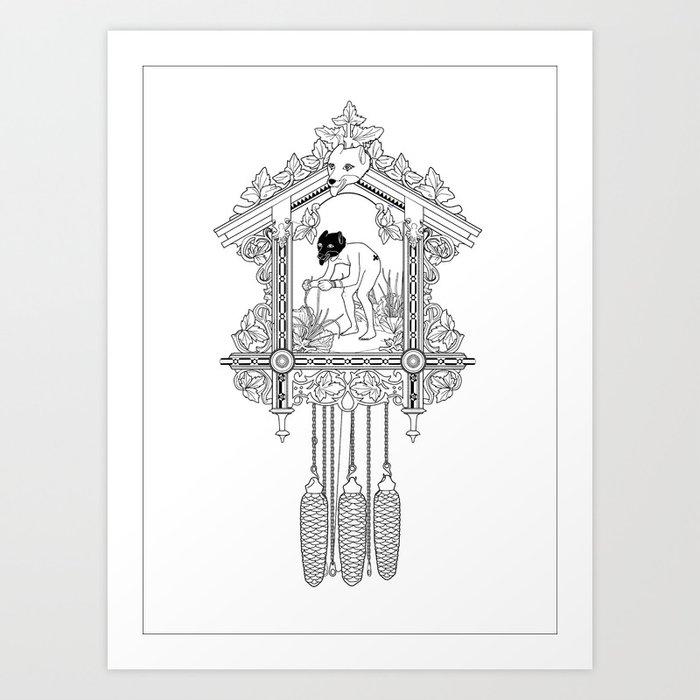 """Cuckoo clock, """"I have gone cuckoo."""" Art Print"""