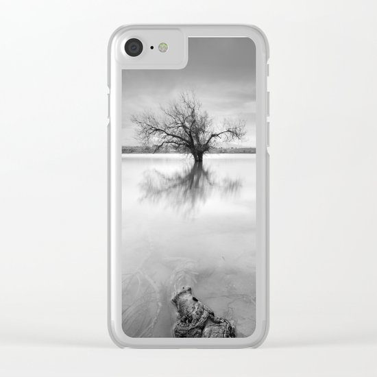 """Roots and trees..."" BW Clear iPhone Case"