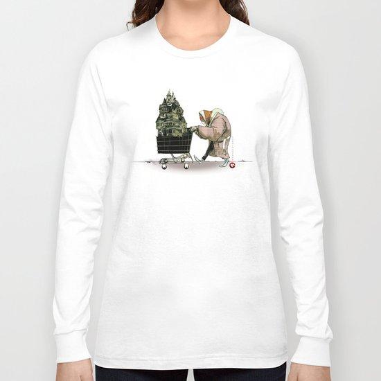 "Glue Network Print Series ""Homelessness"" Long Sleeve T-shirt"