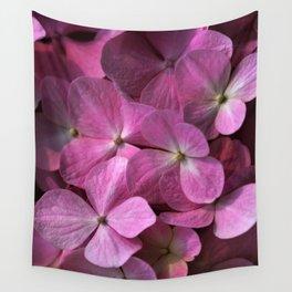 Pink hydrangea Wall Tapestry