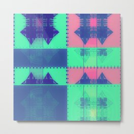 Squares, Quads & Dots in Pastel Colors Metal Print
