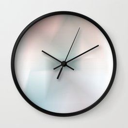Blurred Colors Wall Clock