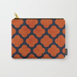 navy and orange clover Carry-All Pouch