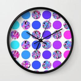 Pretty Polka Dot Pattern Wall Clock