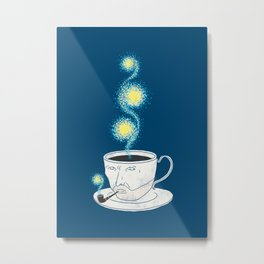 Starry starry coffee Metal Print