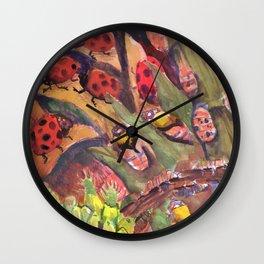 ladybug life cycle Wall Clock
