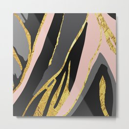 Gold and pale river Metal Print