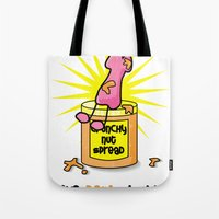 penis Tote Bags featuring I Like Penis Butter by David Cuschieri