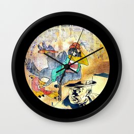 Crow Trouble Wall Clock