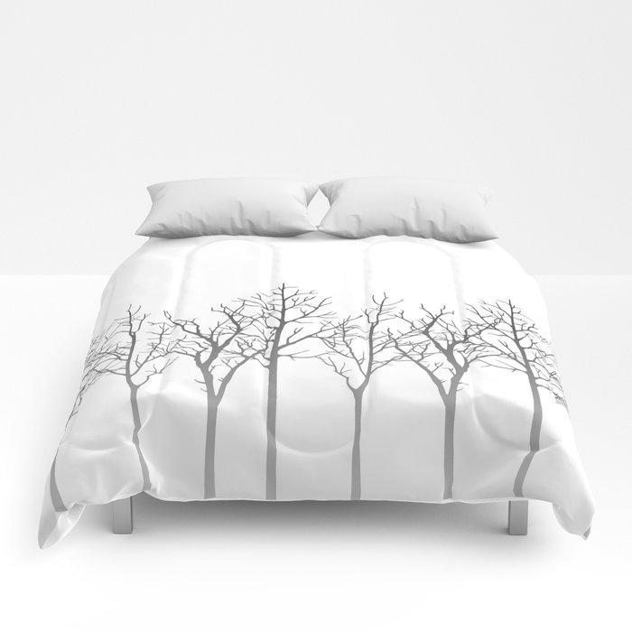 Winter Aspen Forest Comforters