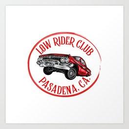 Low rider Club, Pasadena, California. Art Print