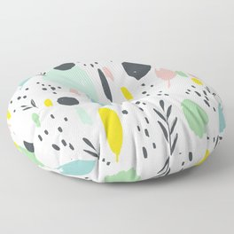 Colourful splotches: modern ink brush strokes with bright colors Floor Pillow