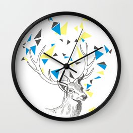 Rainbow Collection / deer Wall Clock
