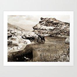 Boscastle, village Art Print