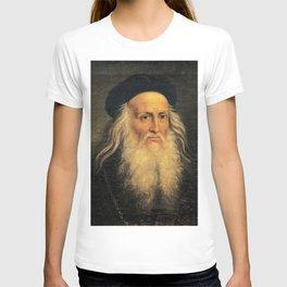 Leonardo Da Vinci self portrait T-shirt