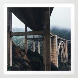 Bixby Bridge, Big Sur, CA Art Print
