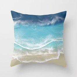 Venice Beach - 3D Resin Beach art Throw Pillow