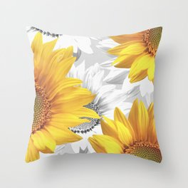 Sunflower Bouquet #decor #society6 #buyart Throw Pillow