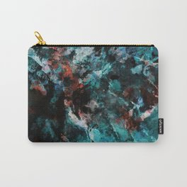Abstract and Modern Teal Painting Carry-All Pouch