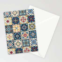 Moroccan Tiles Pattern Multicolor Stationery Cards