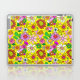 60's Lovers Floral in Sunshine Yellow Laptop & iPad Skin