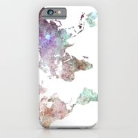 Watercolor World Map Slim Case iPhone 6s