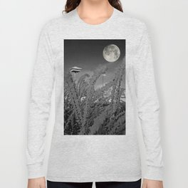 Snow crystals with moon Long Sleeve T-shirt