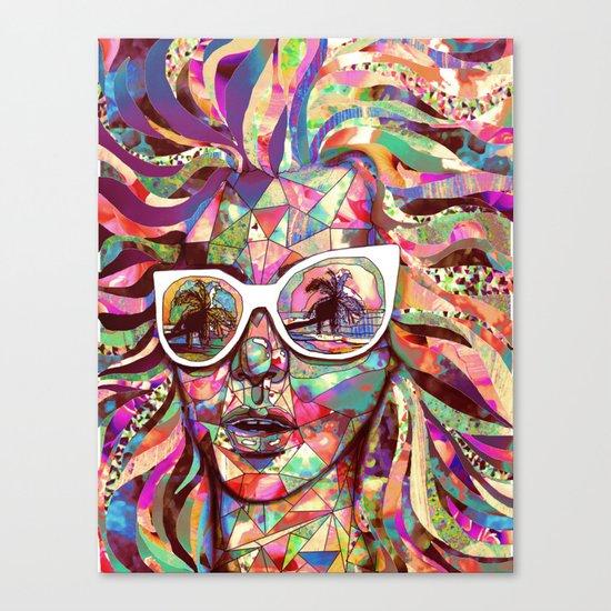 Sun Glasses In a Summer Sun Canvas Print