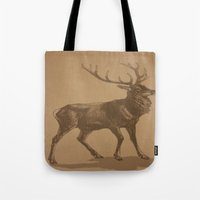 stag Tote Bags featuring Stag by liberthine01