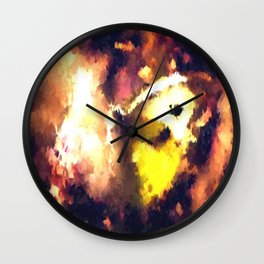 Impressions of Butterfly Wall Clock