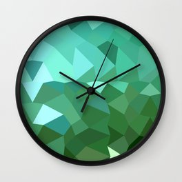 Dartmouth Green Abstract Low Polygon Background Wall Clock