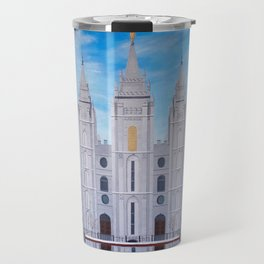 Winter Temple in Salt Lake City, Utah Travel Mug