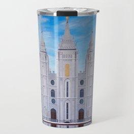 Winter Temple in Salt Lake City, Utah Travel Mug
