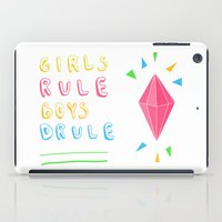 girl power iPad Cases featuring Girl Power by Lovisa Valentino