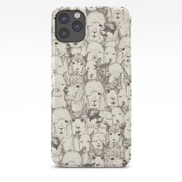 just alpacas natural iPhone Case