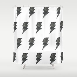 Thunder Stamped Shower Curtain