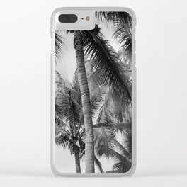 Palm Trees Look Up Clear iPhone Case