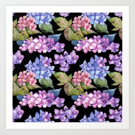 Hydrangea Pattern 05 Art Print